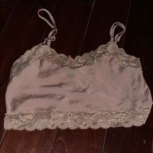Brandy Lace Silk Top Crop